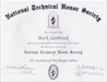 National Technical Honor Society certification